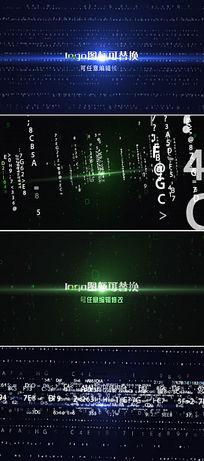 多款震撼电影级数字代码汇聚成logo模板
