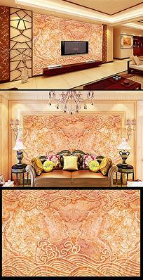皇室飞花欧式风格电视背景墙