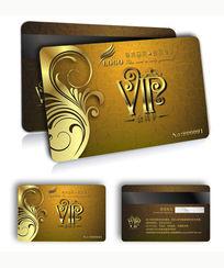 金色高档VIP贵宾卡设计