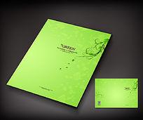绿色环保宣传册封面设计