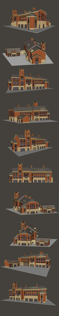 英式会所建筑SU模型设计