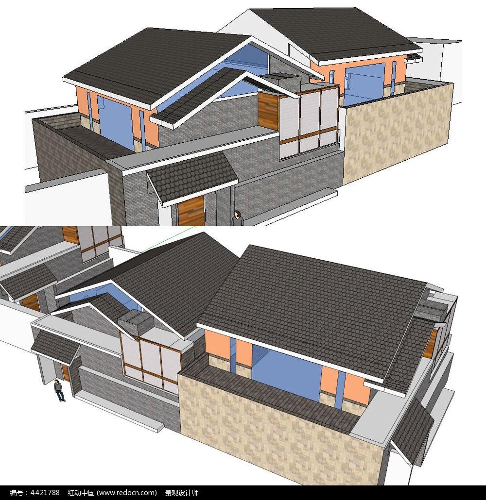 设计模型 草图大师 景观模型