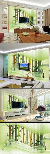 空间艺术竹林背景墙