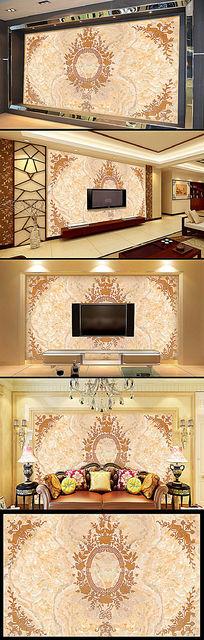 欧式风格电视背景墙装饰画