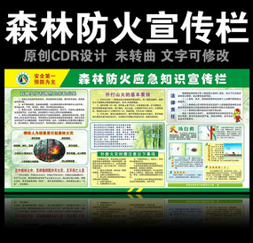森林防火应急知识宣传栏