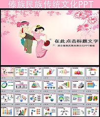 傣族传承民族风俗文化ppt模板