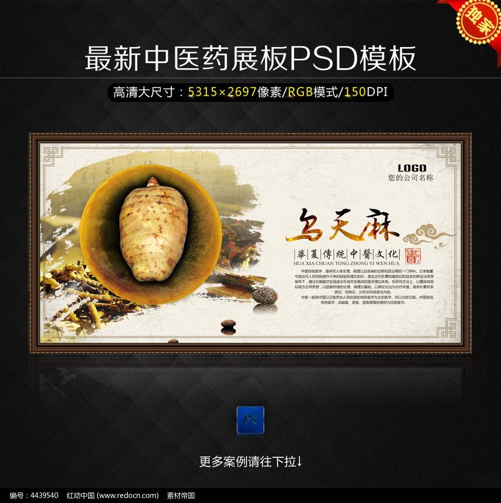 中医药手绘海报