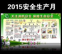 2015安全生产月消防安全展板