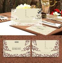 咖啡厅商务透明名片设计