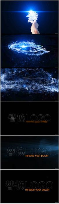 logo演绎出现ae视频模板