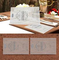 欧式餐厅透明名片设计
