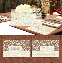 凸凹欧式花纹透明名片模板