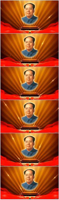 伟大领袖毛主席视频背景