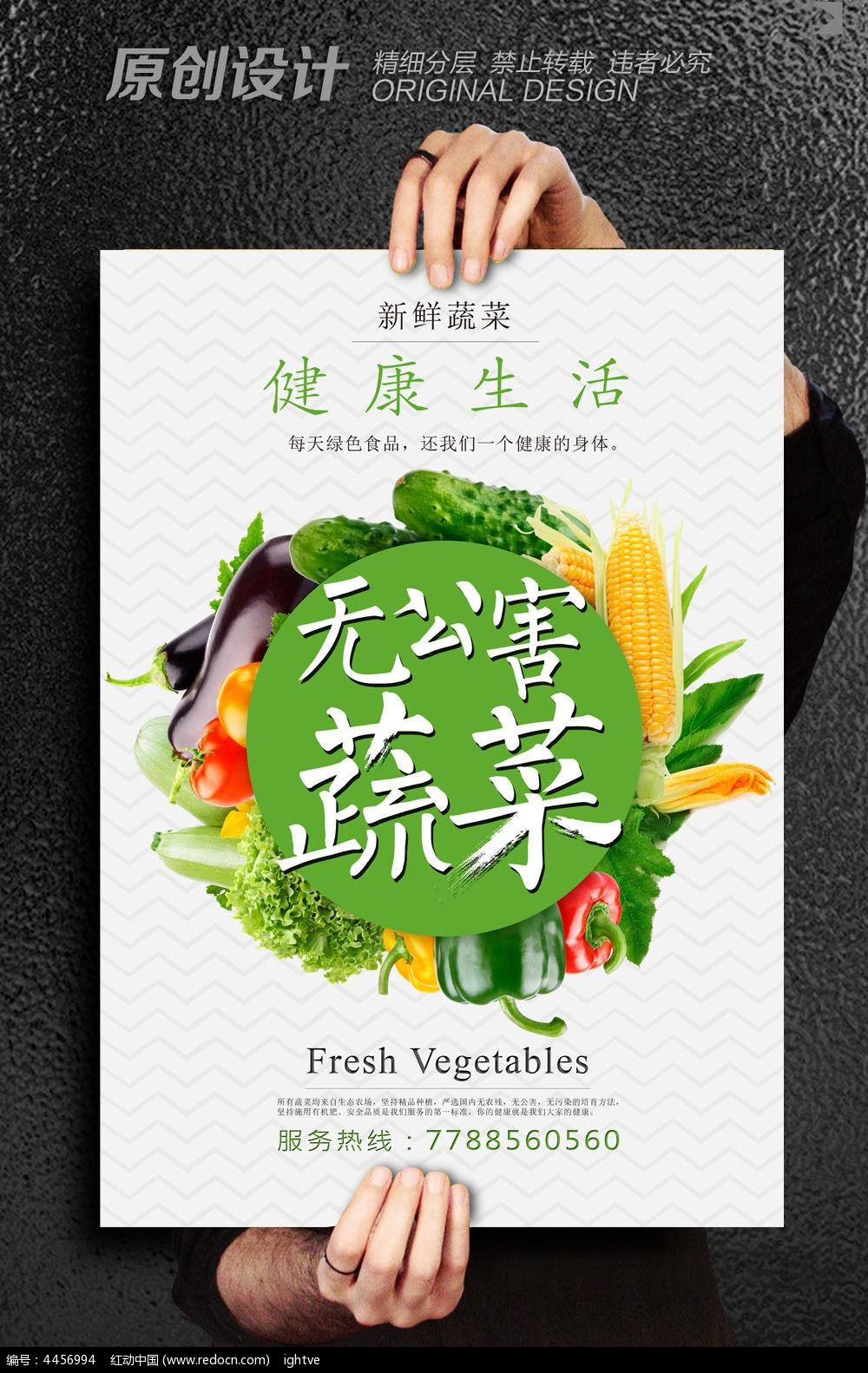 无公害蔬菜宣传海报设计