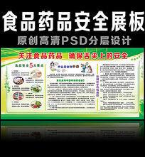 食品药品安全宣传展板设计