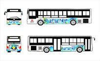summer旅游季车体广告设计