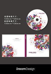 炫彩花纹CD封套设计