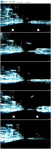 高清三维城市LED视频背景