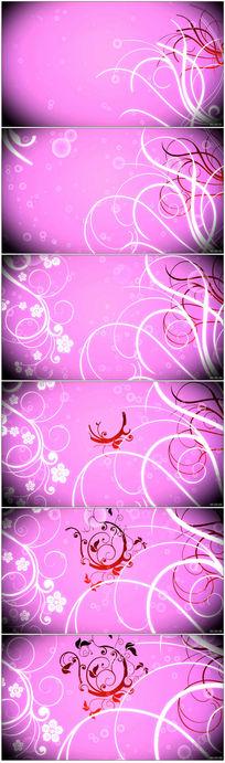 花纹生长粉色背景超高清视频素材