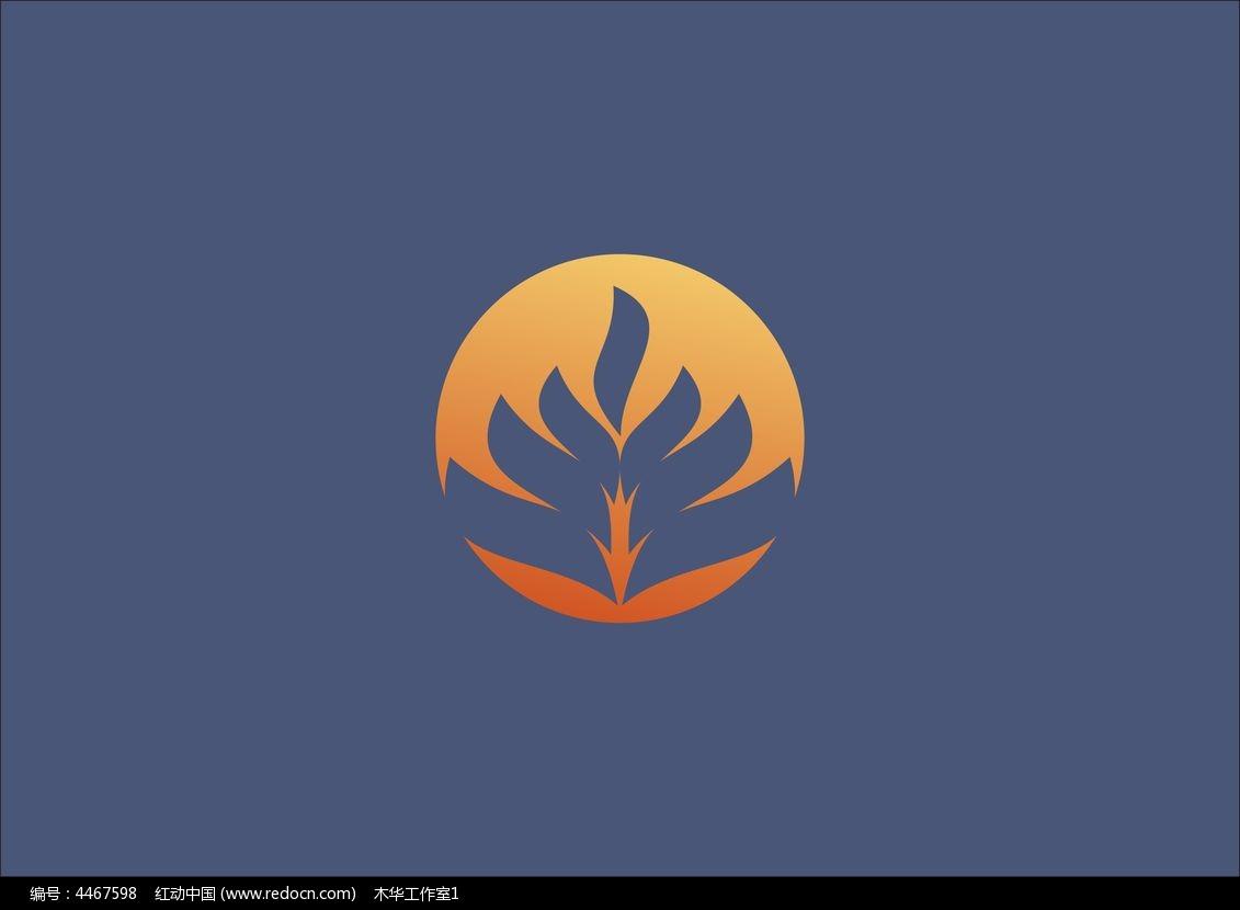 植物系元素logo设计(原创)图片