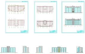 办公大楼设计cad图纸