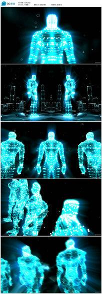 粒子巨人动感视频素材