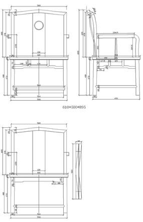 明朝中式家具cad设计图