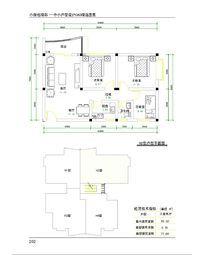 三室两厅cad平面图