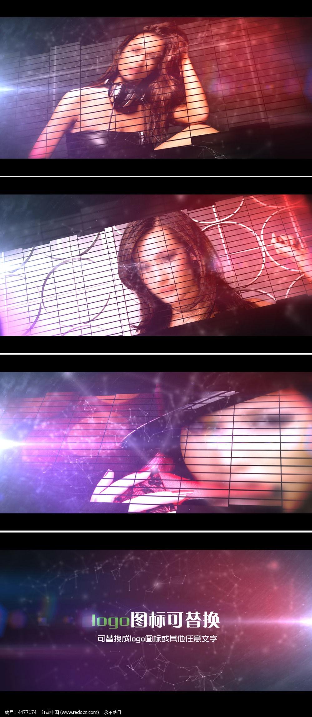 时尚娱乐电视节目视频宣传模板图片