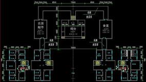 文体中心办公大楼cad设计图纸