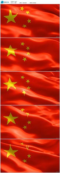 五星红旗飘飘动态视频素材后期编辑素材下载