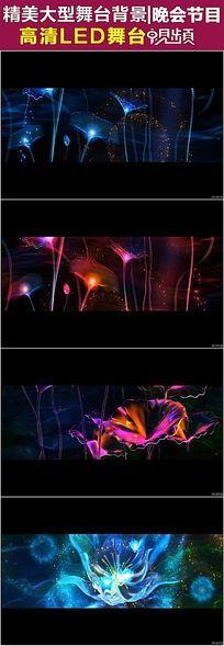 浪漫唯美的粒子光效荷塘莲语LED视频素材
