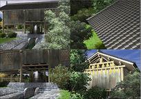 木屋水车3d模型(带贴图)