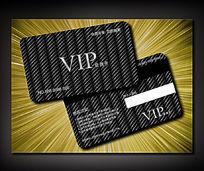 高端螺纹黑商务VIP卡设计