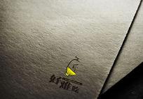 好难吃主题餐厅logo设计