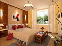 欧式卧室效果图3d模型带贴图