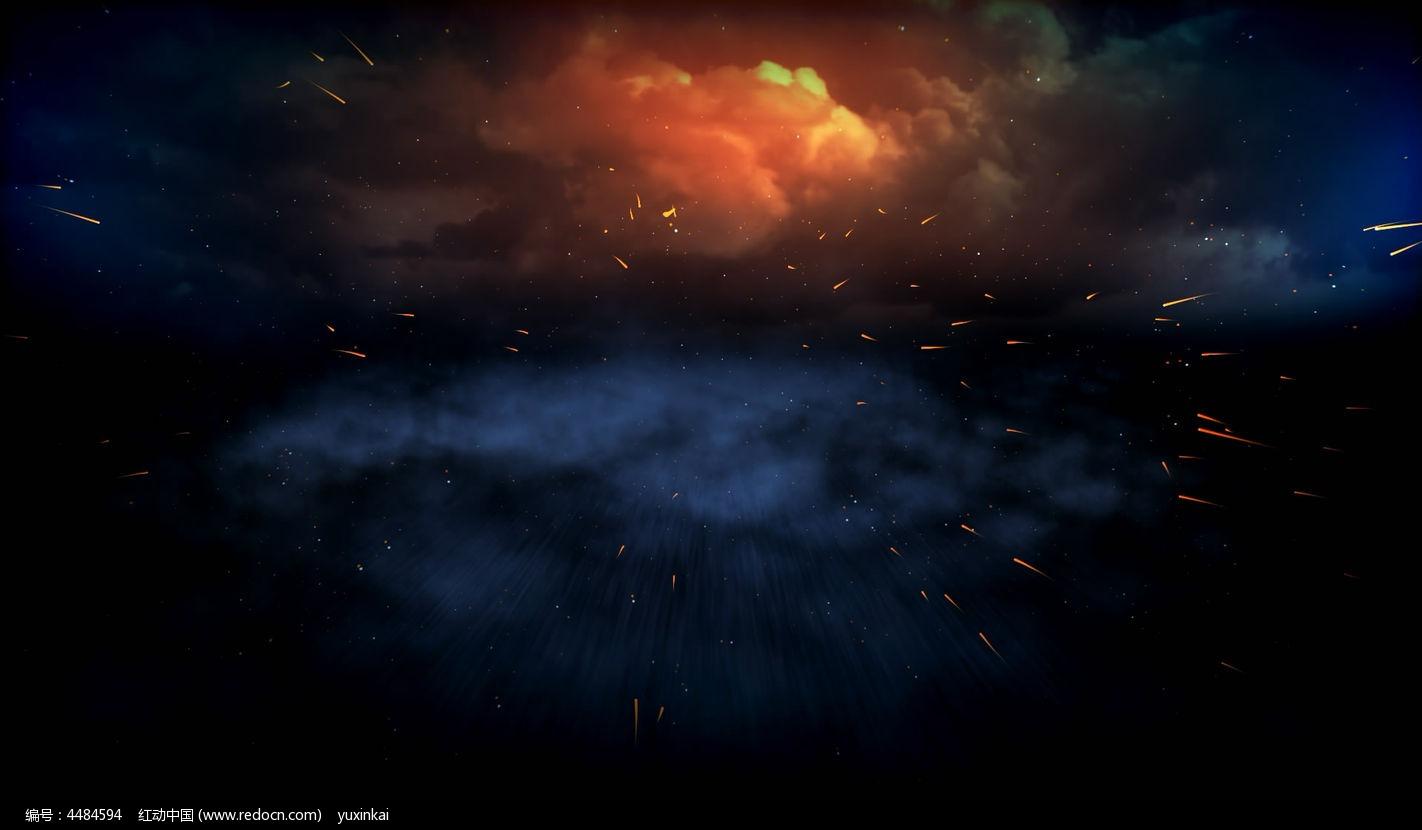 视频_喷出的火星动态背景高清视频素材