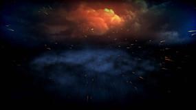 喷出的火星动态背景高清视频素材