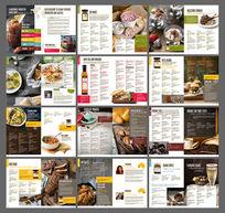 时尚食品画册设计模板