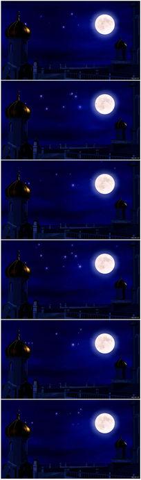 水中月亮宫殿城堡