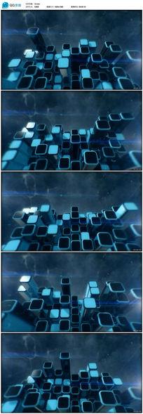 蓝色方块视频素材
