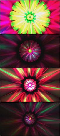 2k超炫美的粒子伞花视频素材