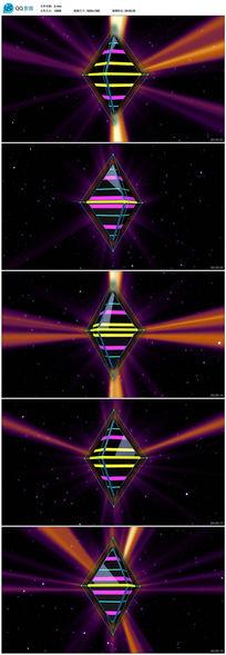 动感光线演出背景视频素材