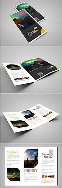 简洁风景宣传折页设计 PSD