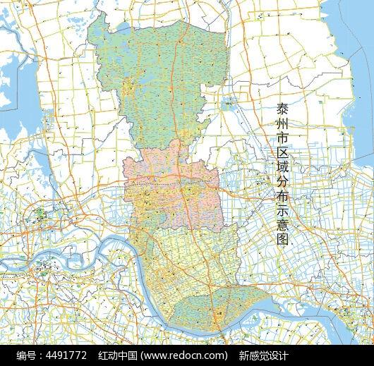 泰州市地图设计模板