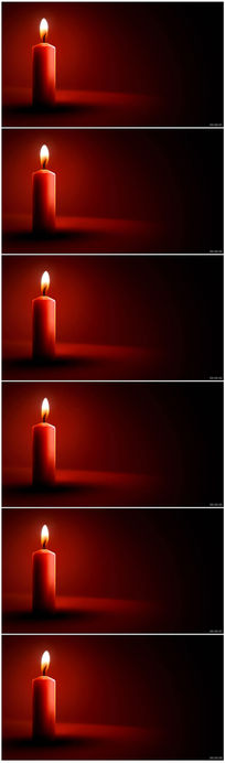 喜庆蜡烛视频背景素材
