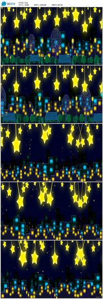 最美卡通星星夜景视频素材