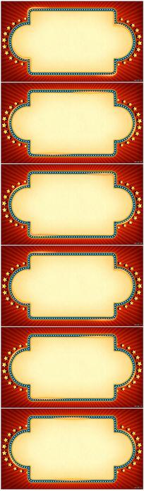 彩色装饰灯串边框视频
