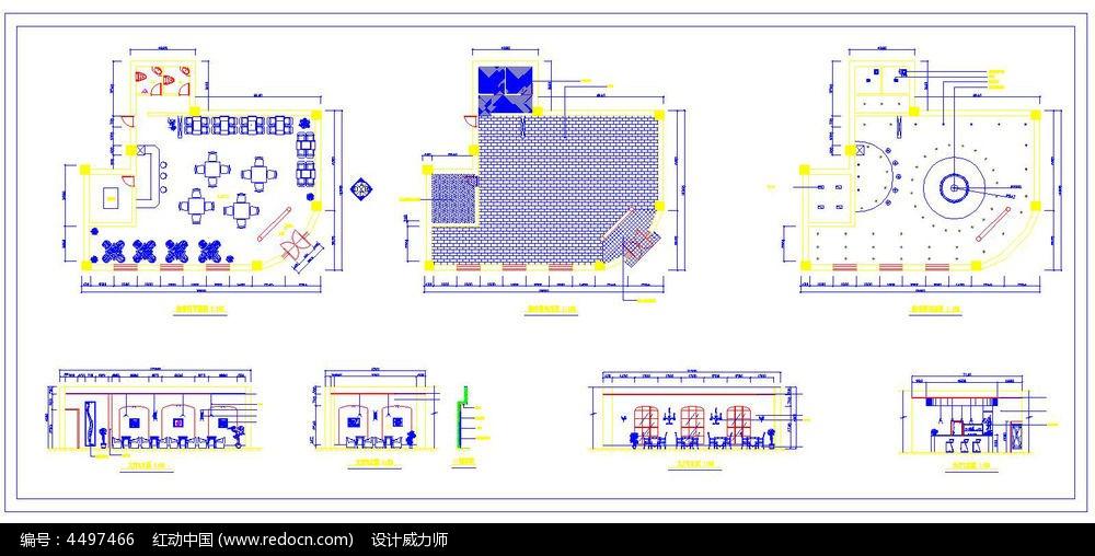 比例设计施工cad平面图图片素材cad缩放块酒吧图片
