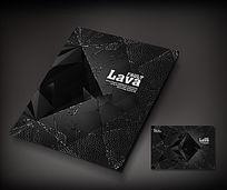 炫酷黑色立体晶格封面设计
